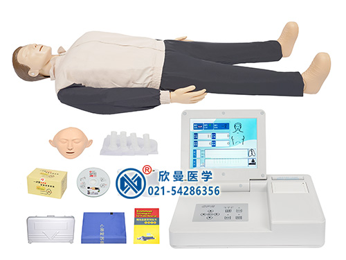 高级液晶彩显全自动电脑心肺复苏模拟人(8寸液晶屏)